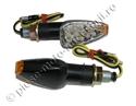 Imaginea Semnale moto universale (brat lung) cu LED - negre cu geam clar