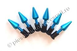 Picture of Suruburi parbriz moto albastre in forma de tepi