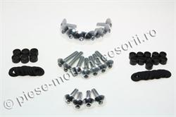 Picture of Suruburi carene moto argintii 19 buc